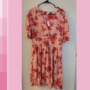 Pink floral sundress NWT